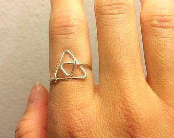 Triforce Ring ~Legend of Zelda Jewelry ~Triangle ~14K Gold /Rose Gold-Filled /Sterling Silver ~Video Game /Geeky /Nerd /Link ~Adjustable