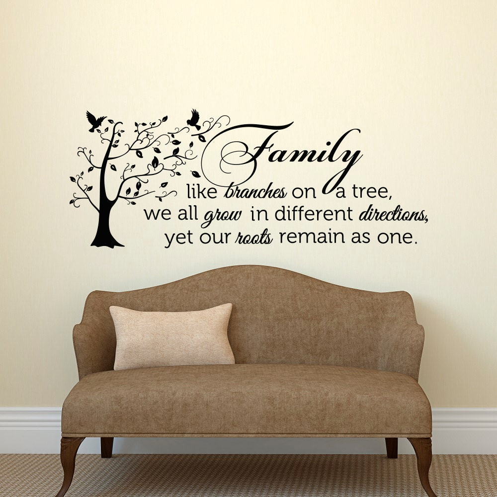 Motivational Inspirational Quotes: Family Wall Decal Quote Family Like Branches On A Tree Vinyl