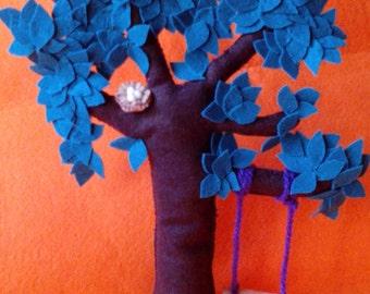 Arbol decorativo / tree / handmade / decorative / buho owl / columpio