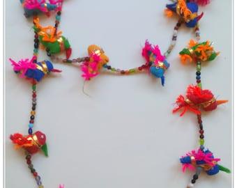 Birds necklace silk Juliet Juliet
