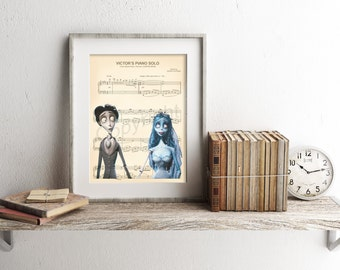 Corpse Bride Sheet Music Art Print