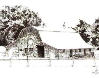 Print - Barn in Oklahoma