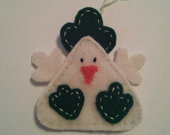 Easter Chicken ornaments/green