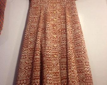 Leslie Fay- Dress Petite- Safari Pattern