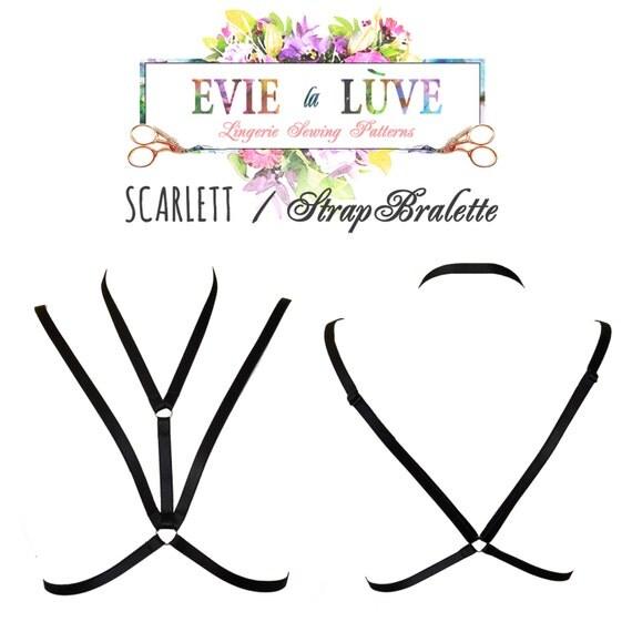 DIGITAL download - Scarlett Strap Bralette PDF Instant Download Instructions