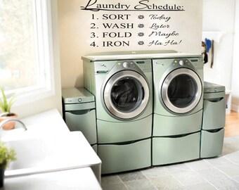 Laundry vinyl wall decal, laundry wall words, laundry vinyl wall decals, vinyl wall decals,Laundry room decor,laundry sign