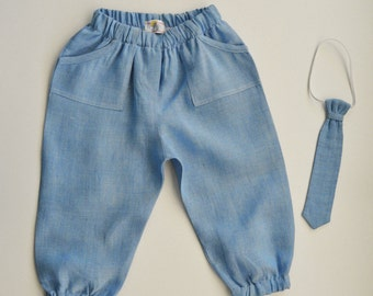 Baby boy linen pants | Etsy