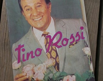 "Book ""Tino Rossi, the memory of the heart"" 1980s vintage"