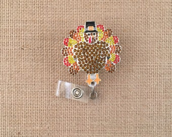 Thanksgiving Badge Reel-Turkey Badge Reel-Turkey Badge Holder-Thanksgiving Badge Holders-Nurse Badge Reel-Cute Badge Reel-Id Badge Reels-RN