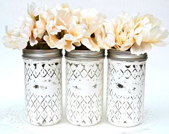 Mason Jar Decor, Mason Jars Bulk, Jelly Jar Decor, Painted Jelly Jars, Painted Mason Jars, Wedding Centerpiece, Jar Centerpiece, Jar Decor