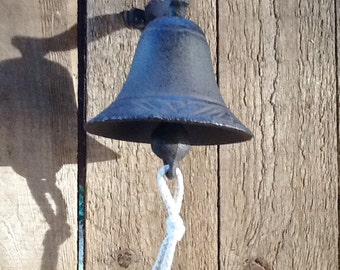 Cast Iron Ships Bell Weather Rustic Look  Beach Seaside Nautical  Decor
