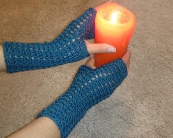 Handmade crochet fingerless gloves
