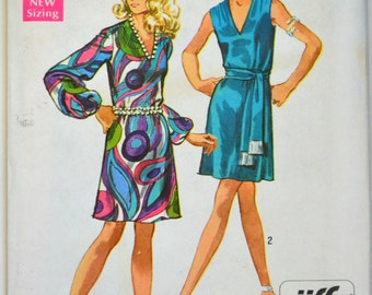 Uncut 1960s Simplicity Vintage Sewing Pattern 8625, Size 12; Misses' Dress