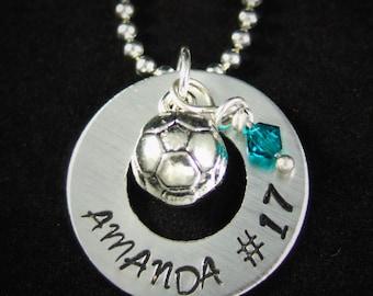 Soccer Necklace, Soccer Team Gift, Soccer Keychain,  Soccer Party Favor, Soccer Mom or Dad Gift