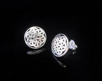 Flower of life earrings Silver 925 earrings