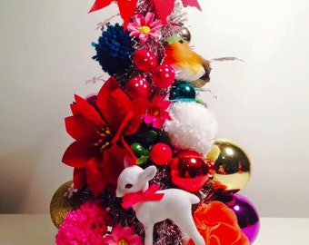 Christmas Kitsch mini tree - made to order