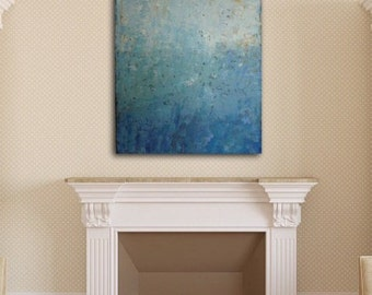 """ABSTRACT PAINTING, Modern Painting, Acrylic Art Painting, Title: """"Blue Harmony"""""""