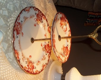 Two Tiered Tidbit Dish Made in Japan Hand painted Tiered tidbit antique tidbit dish beautiful tidbit dish