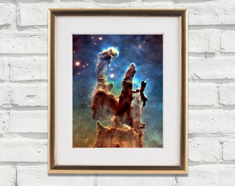 Pillars Of Creation, Nebula, Galaxy, Stars, Digital Download Space Print Wall Art