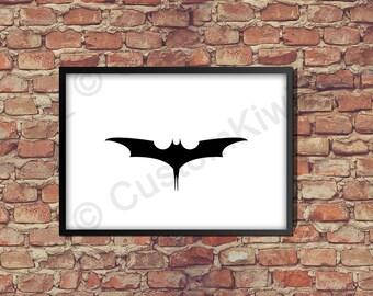 Printable Poster bat (Batman style)