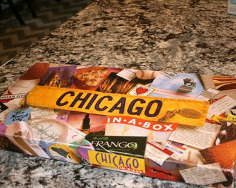 1990s Chicago in-a-box//By Late For The Sky Production Co.//Vintage Board Game