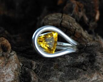 Golden Beryl Ring Etsy