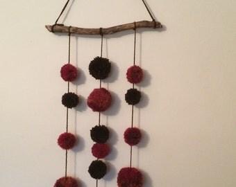Wool Pom Pom Wallhanging