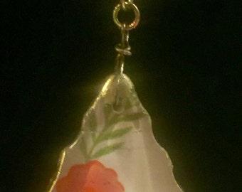 vintage flower drawing in a Chandelier pendant