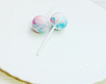 Gender Reveal Cake Pops Baby Shower Cake Pops Made to Order Vanilla Bean Marbled