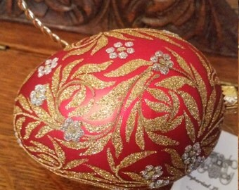 Perfect Easter Gift! Dazzling Imperial Legacy Polish Decorative Egg Designed By Krystyna Gawlik