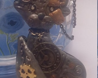 steampunk necklace - Cat Lord