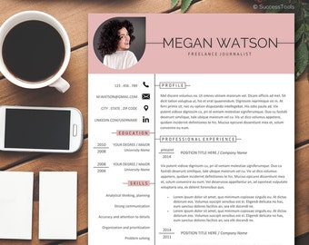 resume template creative photo resume instant download professional resume template resume with photo