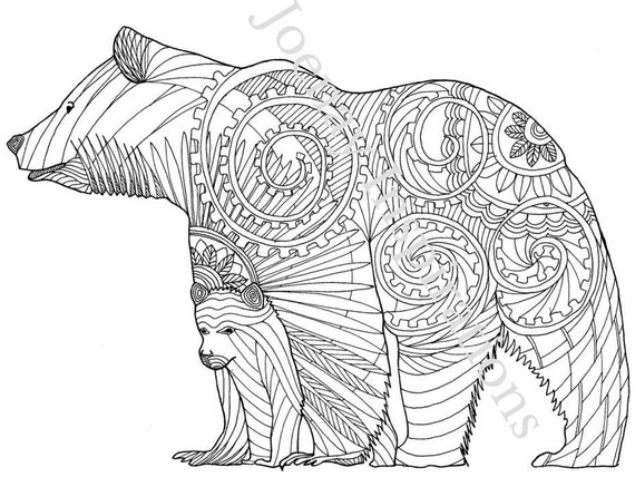 Adult Coloring Book, Printable Coloring Pages, Coloring Pages, Coloring Book for Adults, Instant Download, Amazing Animals 2 page 5