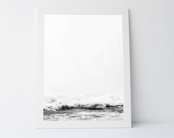 Black white Sea, Sea wall art, Wave Print, Black White print,Wave Art,Ocean Print, Sea Art,Sea Print, Sea Wall Art Printable, Ocean wall art