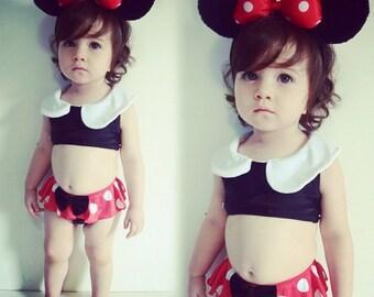 Minnie Mouse two piece bikini set