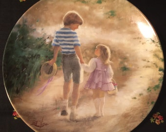 Country Walk by Donald Zolan Collector Plate