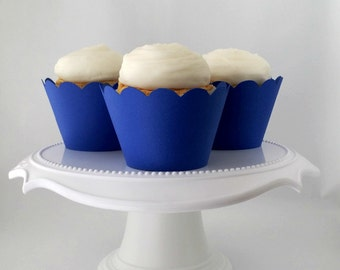 Set of 12 – Royal Blue Cupcake Wrappers – Standard Sized - Ready To Ship