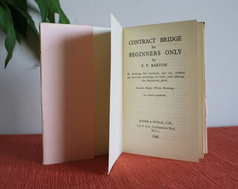 Contract bridge for beginners only 1940's vintage pocket book