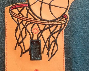 Basketball light switch plate