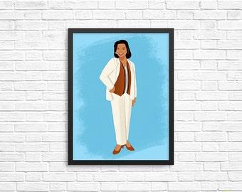 Khadijah James Art Print / Living Single Illustration