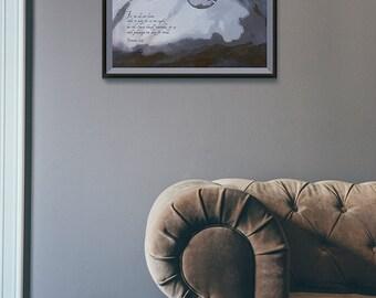 Romans 8:26 Watercolor Printable, Scripture Art, Art Quote poster, Motivational print, Wall decor