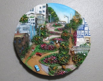 Collectible refrigerator magnet Lombard Street San Francisco