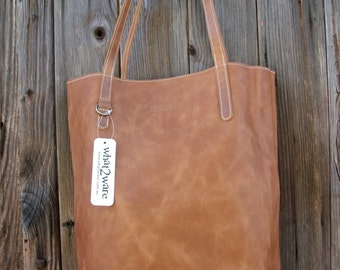 Cognac Leather Tote