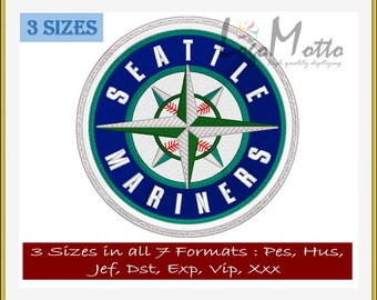 SEATTLE MARINERS EMBROIDERY designs Mlb Baseball logos