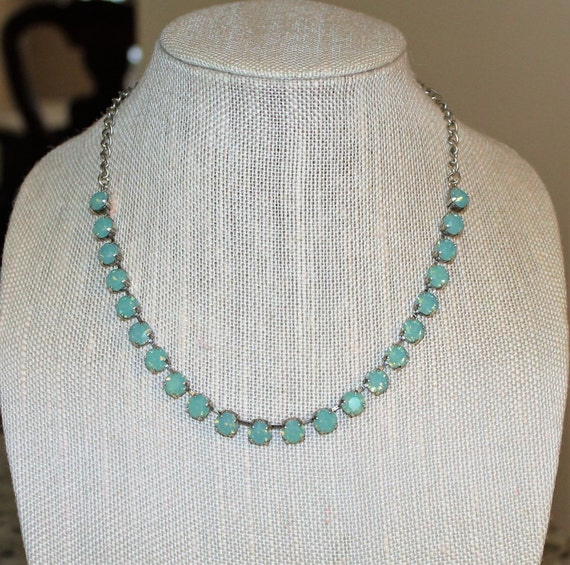 8mm Swarovski Choker in Pacific Opal, empty cup chain necklace