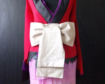 Megurine Luka Handmade Pre-owned Unique Cosplay Costume Vocaloid project diva magnet Yukata (XS size)
