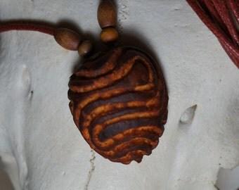 Flow - Carved Avocado Necklace
