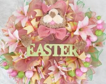 Easter Wreath, Easter egg wreath, Easter Bunny Wreath, Spring Wreath, Happy Easter Wreath, Wreath, Bunny Easter Wreath, Wreath