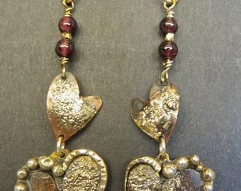 Whimsical Heart on Heart Earrings