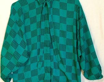Plaid vintage blouse